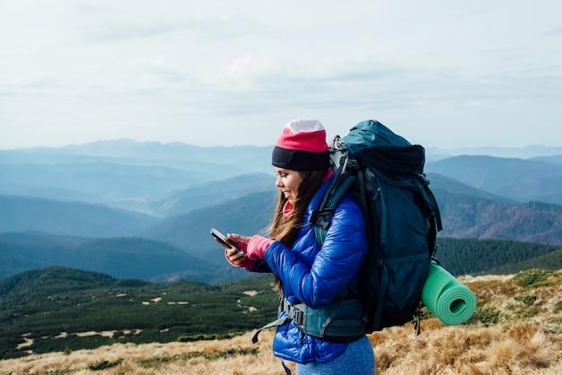 Social networking in cima alla montagna.