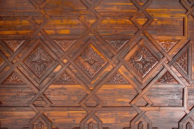 Soffitto a cassettoni in legno di santa cruz de la palma