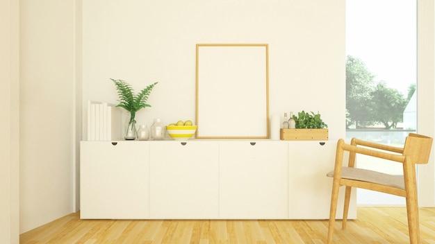 Soggiorno in condominio o casa - rendering 3d