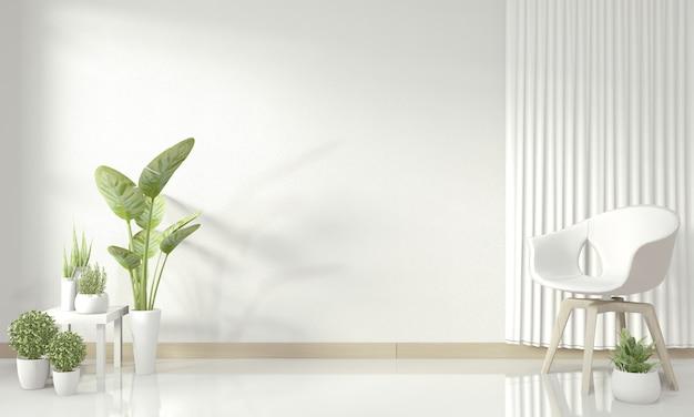 Soggiorno moderno bianco mock up interior design