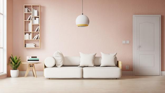 Soggiorno moderno con decorazioni colorate