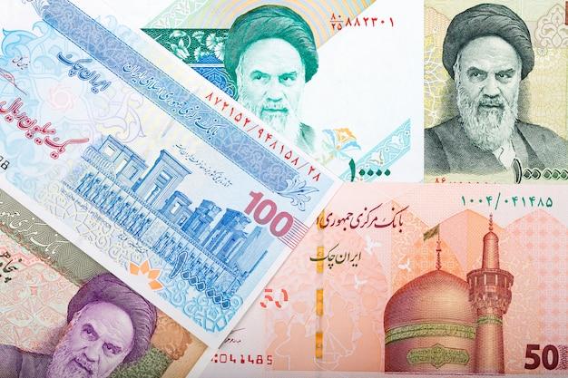 Soldi iraniani. rial business background