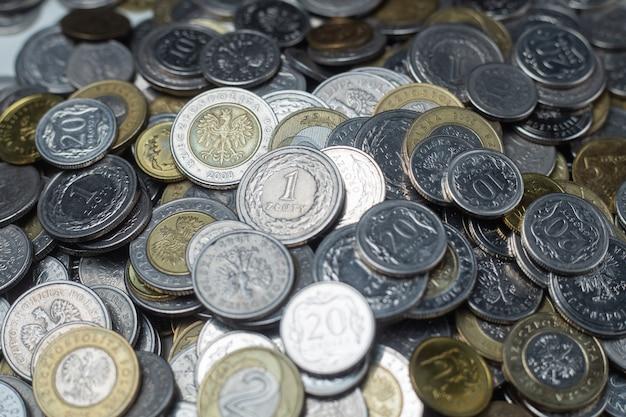 Soldi polacchi, zloty polacco, monete in valuta