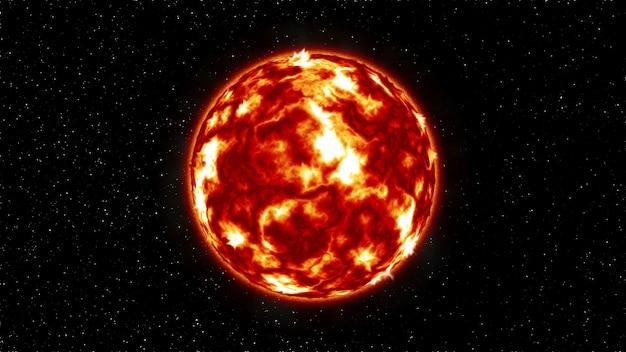 Sole nello spazio esterno. illustrazione .