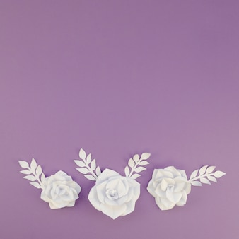 Sopra la vista decorazione floreale con copia-spazio