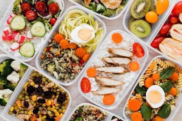 Sopra vista assortimento pasto nutriente