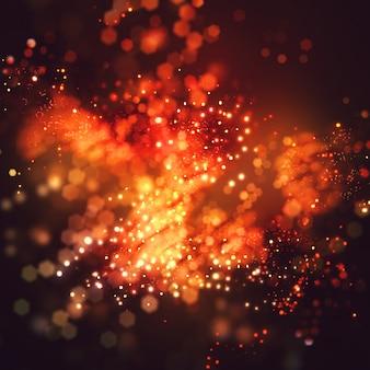 Sorprendente bokeh offuscata con effetto glitter