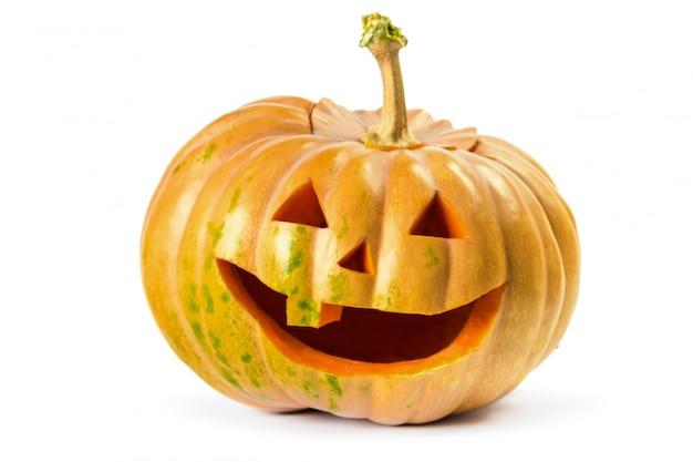 Sorriso di zucca di halloween