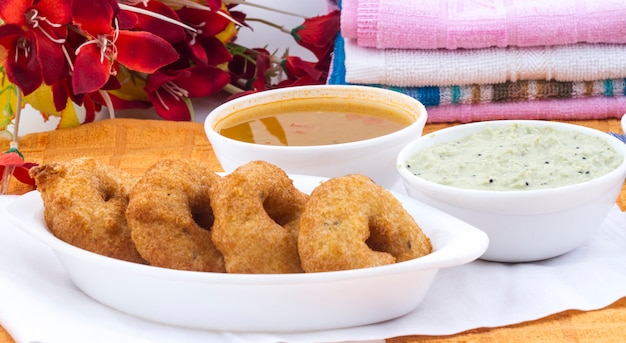 South indian food idli vada