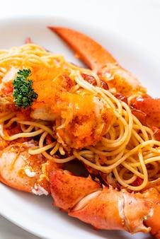 Spaghetti all'astice con uovo di gamberetti