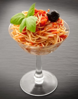 Spaghetti italiani in vetro