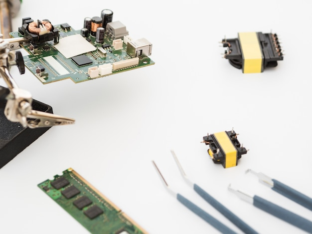 Sparato del circuito con i connettori