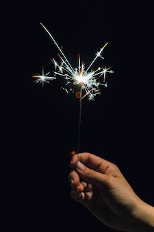 Sparkler a portata di mano nel periodo natalizio