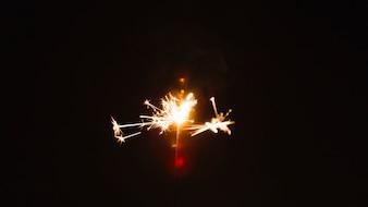 Sparkler su sfondo nero