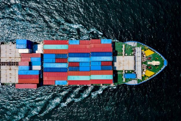 Spavento degli oceani dei contenitori di carico di trasporto di trasporto di affari