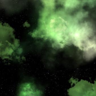 Spazio 3d sullo sfondo del cielo