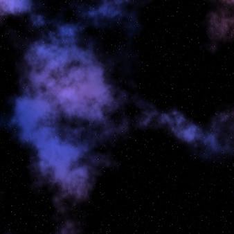 Spazio astratto cielo con nebulosa colorata