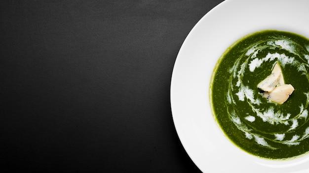 Spazio delizioso della copia della minestra di broccoli