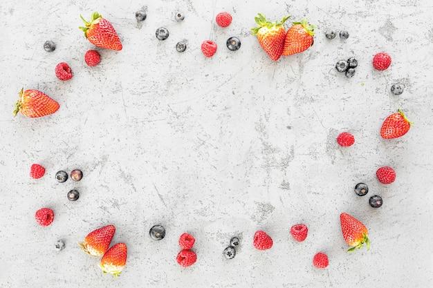 Spazio delizioso della copia di disposizione della frutta fresca
