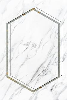 Spazio di design del telaio in marmo