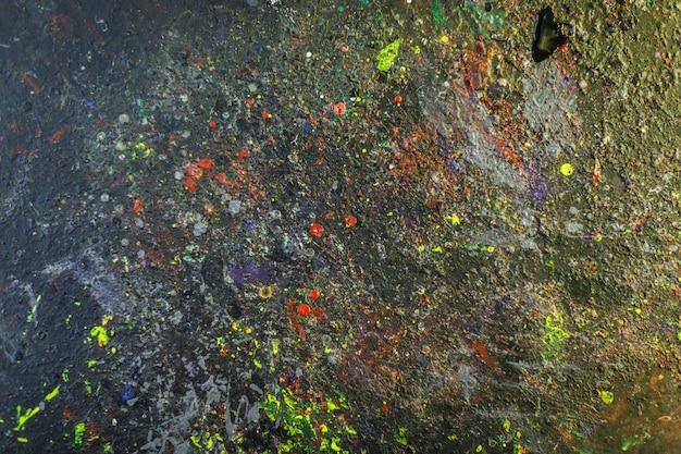 Spazio macchiato di vernice, trama astratta
