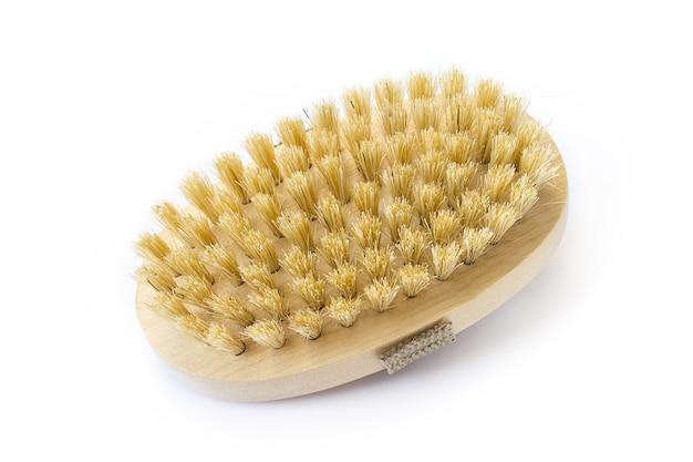 Spazzola in legno con setola naturale per il massaggio del corpo