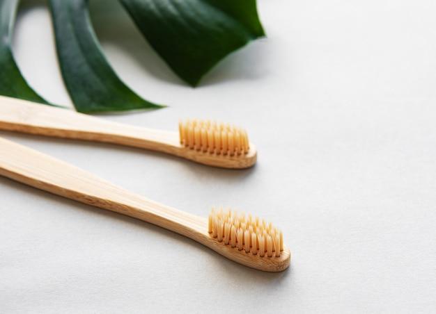 Spazzolini da denti in bambù naturale