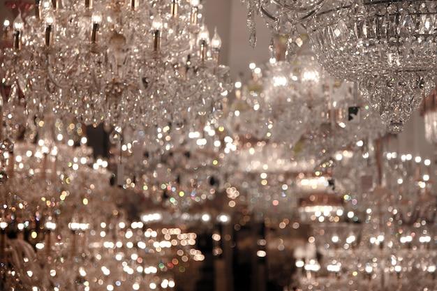 Specchio reflex in vetro decorazione interna più chanderlier