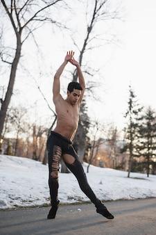 Spettacolo di balletto su strada