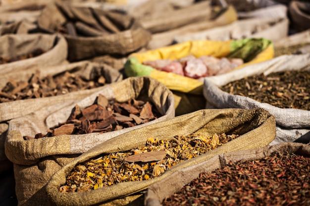 Spezie nel mercato indiano