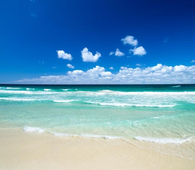 Spiaggia con sabbia bianca