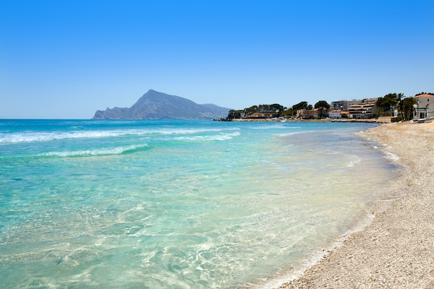 Spiaggia di altea ad alicante playa de l olla
