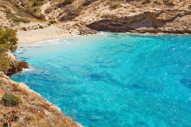 Spiaggia di benidorm alicante, spagna mediterranea