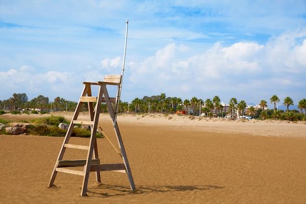 Spiaggia di burriana a castellon in spagna