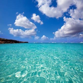 Spiaggia di formentera cala saona isole baleari