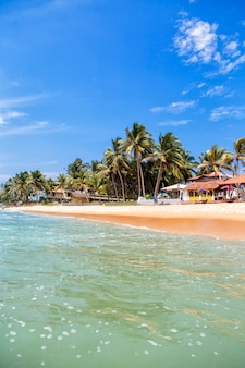 Spiaggia di hikkaduwa allo sri lanka
