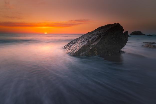 Spiaggia di ilbarritz a biarritz, nei paesi baschi.