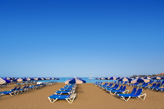 Spiaggia di las vistas in adeje arona a tenerife sud