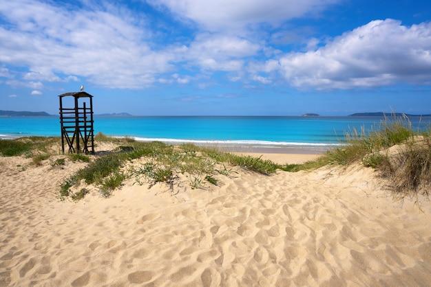 Spiaggia di montalvo a pontevedra galizia a sanxenxo