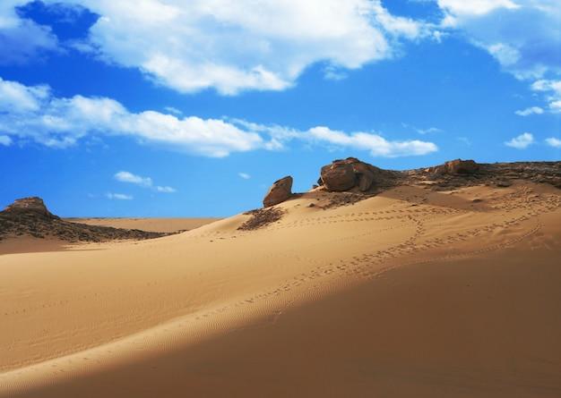 Spiaggia di sabbia del sahara
