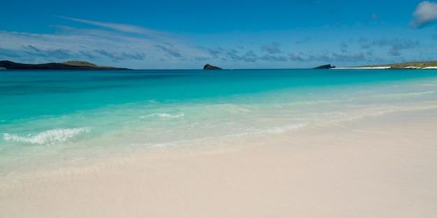 Spiaggia, gardner bay, espanola island, isole galapagos, ecuador