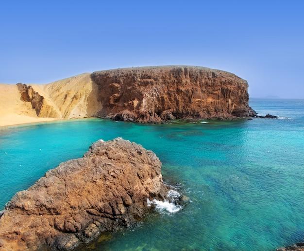 Spiaggia lanzarote el papagayo playa canarie