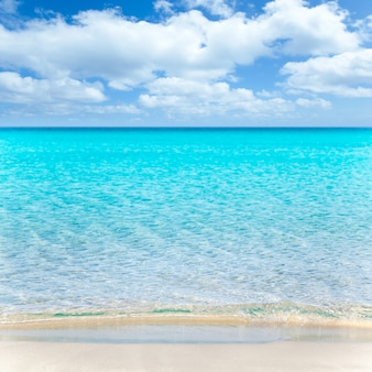 Spiaggia tropicale con sabbia bianca e turchese wate