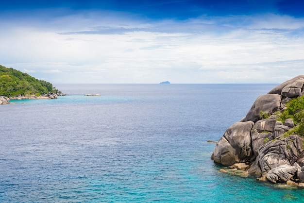 Spiaggia tropicale, isole similan