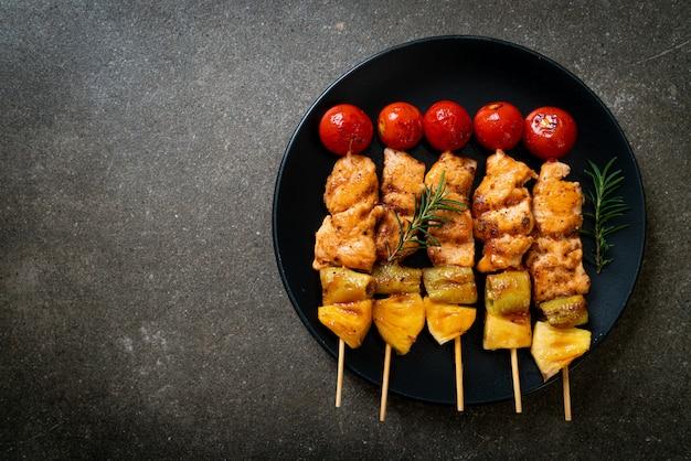 Spiedino di pollo alla griglia