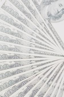 Spiegaci sfondo di cento dollari di bollette