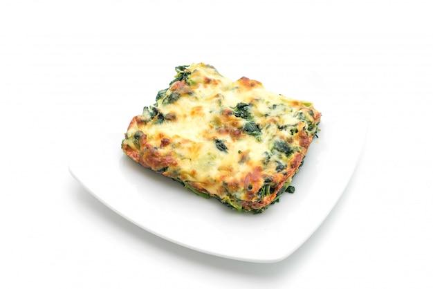 Spinaci al forno con formaggio