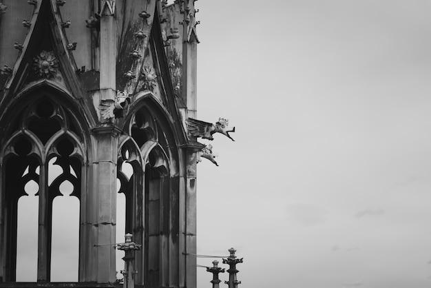 Spire della cattedrale di san vito. praga, repubblica ceca