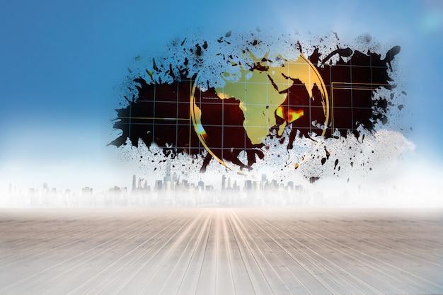 Splash mostrando la grafica della terra