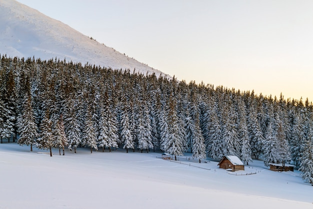 Splendido panorama invernale